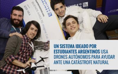 Sistema organizado por estudiantes argentinos usa drones autónomos para ayudar ante una catástrofe natural