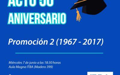 Acto 50° aniversario Promoción 2 (1967 – 2017)
